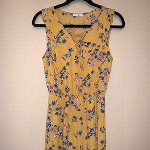 (Maurices) Yellow floral dress